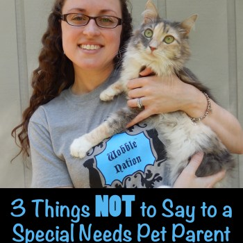 3 Things NOT to Say to a Special Needs Pet Parent