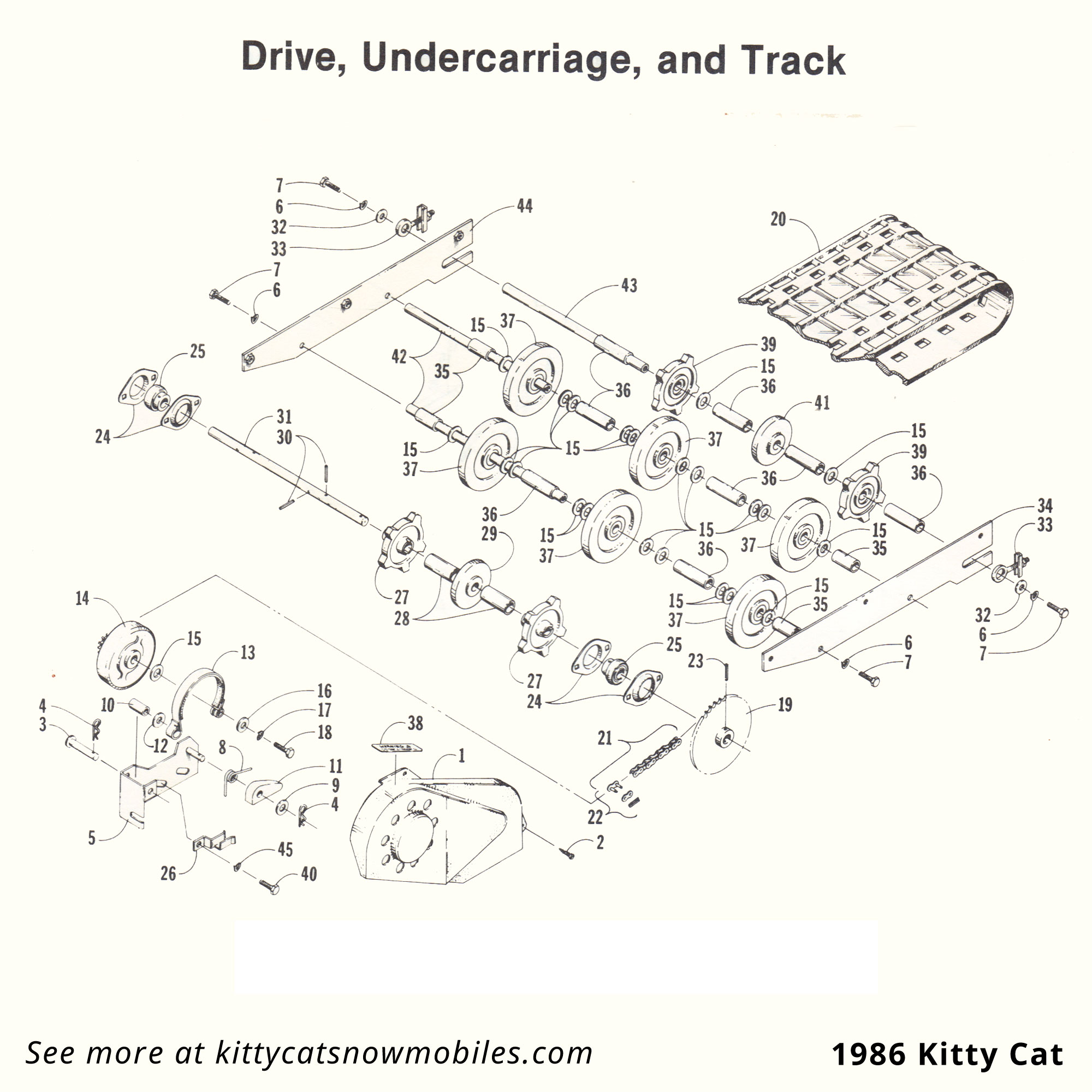 86 Kitty Cat Drive Undercarriage And Track Parts