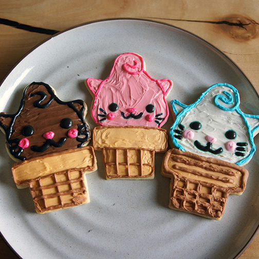 Kitty Cones Cookies
