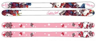 Hello Kitty skis