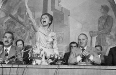 Isabel Peron Campaigns During Argentine Presidential Elections