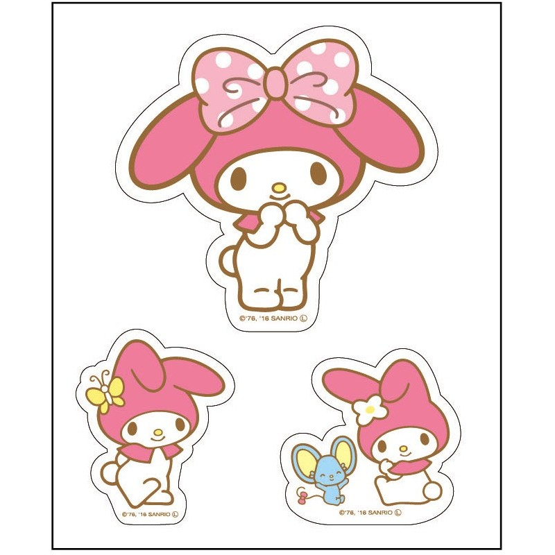 My Melody Stickers The Kitty Shop