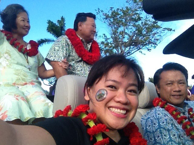 I had the honor of being aboard Mayor Alan Arakawa's convertible last year. This year, I'm actually going to see the parade - the whole parade! Perhaps one of the first parades I'll ever see as a spectator! I'm excited!
