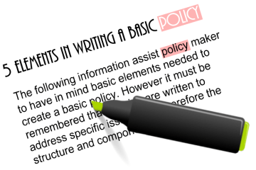 5 Basic Elements in Writting a Policy