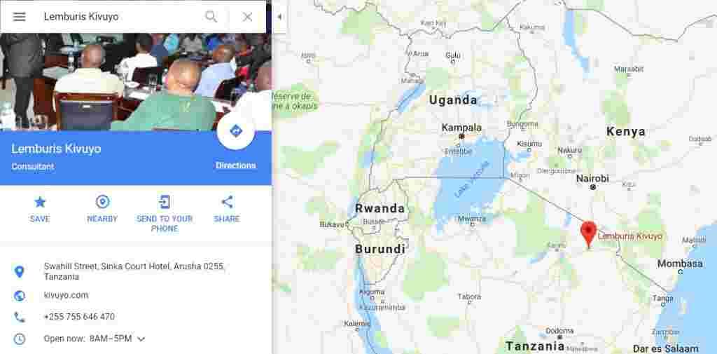 Kivuyo on Google Map