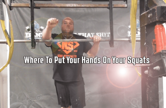 Where To Put Your Hands On Your Squats