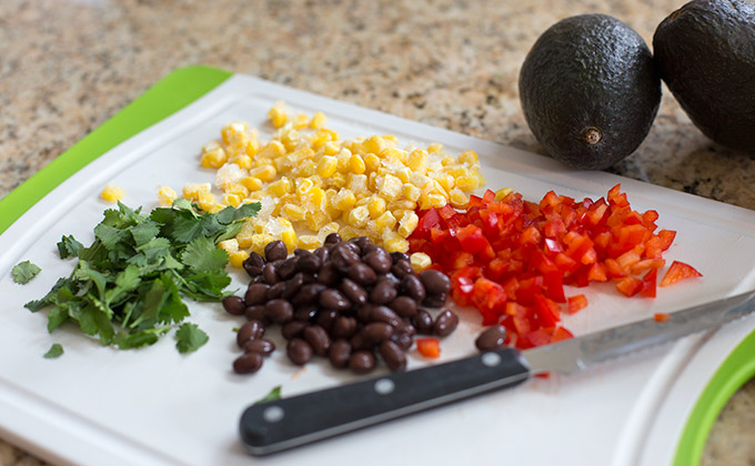 Quinoa stuffed avocados-ingredients