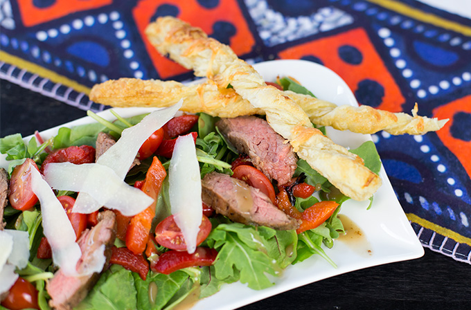 Flank Steak and Arugula Salad
