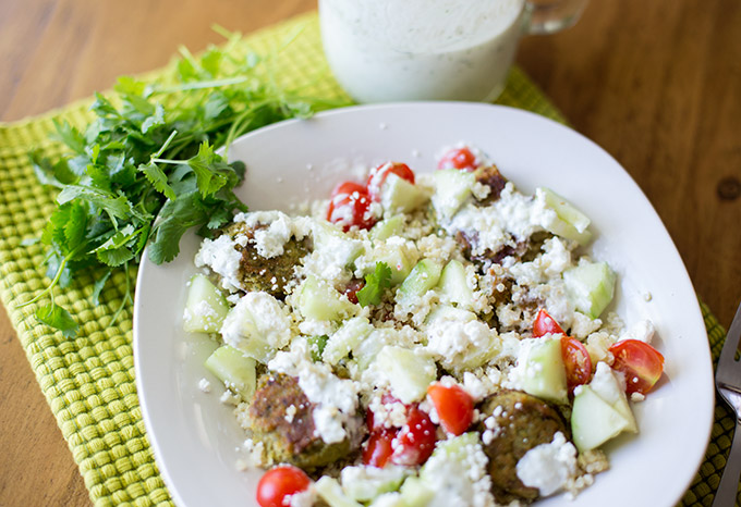 Greek Falafel Pita Bites