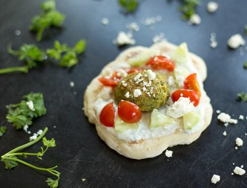 Greek Falafel Pita Bites
