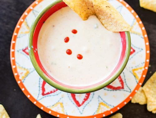 Sometimes you just need a little junk food, right? Whip up this zippy queso blanco with jalapeños and white cheese. No fast food drive-through needed!
