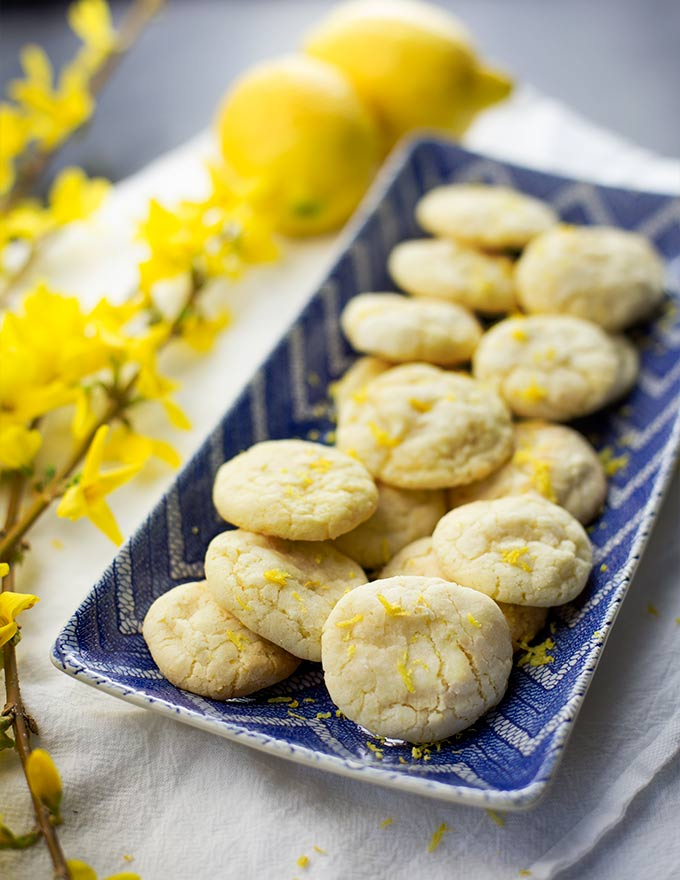 If life gives you lemons, make Lemon Sugar Cookies! These little cookies are packed with fresh lemon flavor...the perfect little not-too-sweet treat.