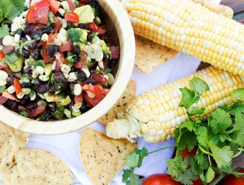 Love salsa? Cowboy Caviar is your new best friend: fresh tomatoes, cilantro, black-eyed peas and avocado, all tossed with a red wine vinegar dressing. Yum!