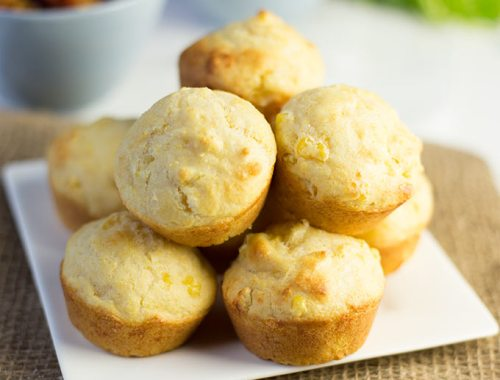 Sweet Corn Muffins - a sweet but delicious muffin filled with bits of corn and melty cheese. The ONLY corn bread recipe you'll ever need.