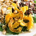 Creamy Delicata Squash and Wild Rice Salad