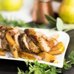 Rosemary Pork with Balsamic Pears