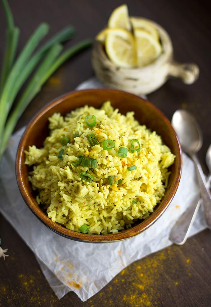 Lemon Turmeric Rice