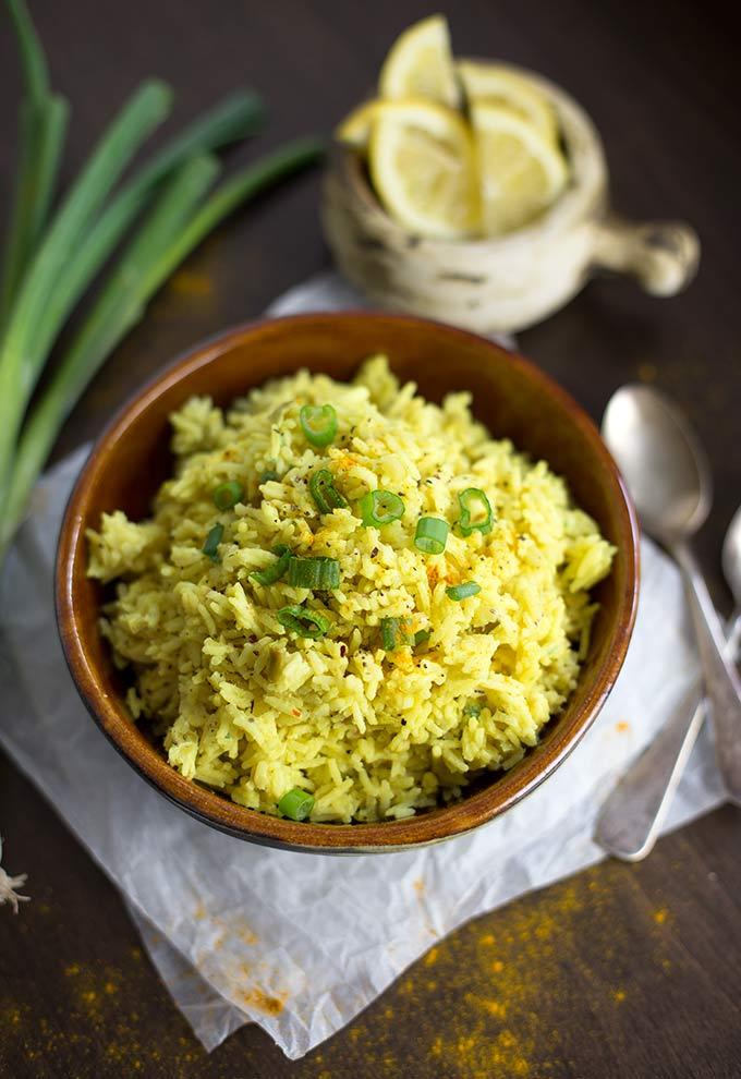 Lemon Turmeric Rice