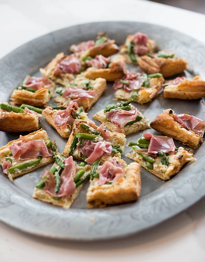 Prosciutto and Asparagus Tarts