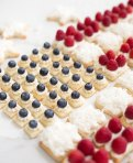 Patriotic Fruit Pizza Cookies