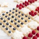 Patriotic Fruit Pizza Cookies