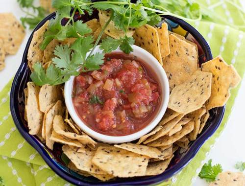 60-Second Salsa: This classic recipe combines tomatoes, lime, garlic and chiles in a blender for the perfect salsa in about a minute!