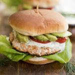 Salmon Burgers with Lemon-Dill Sauce