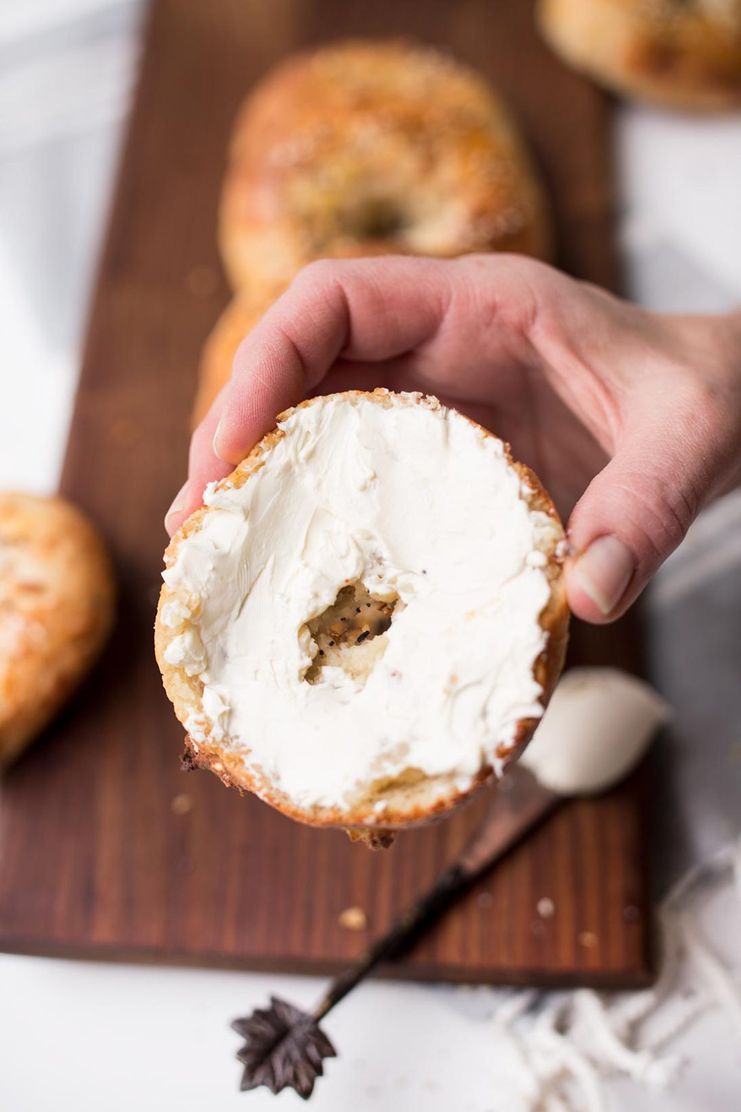 "Grain-Free Everything Bagels - you can still get the savory taste of ""everything bagels"" but without the grains! Paleo and gluten free, but you'd never know it!"
