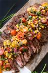 Chili Rubbed Steak with Corn Tomato Salsa