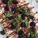 Goat Cheese and Blackberry Flatbread Pizzas