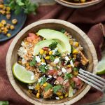 Instant Pot Salsa Chicken Bowls