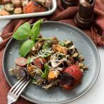 One Pan Pesto Veggies and Sausage