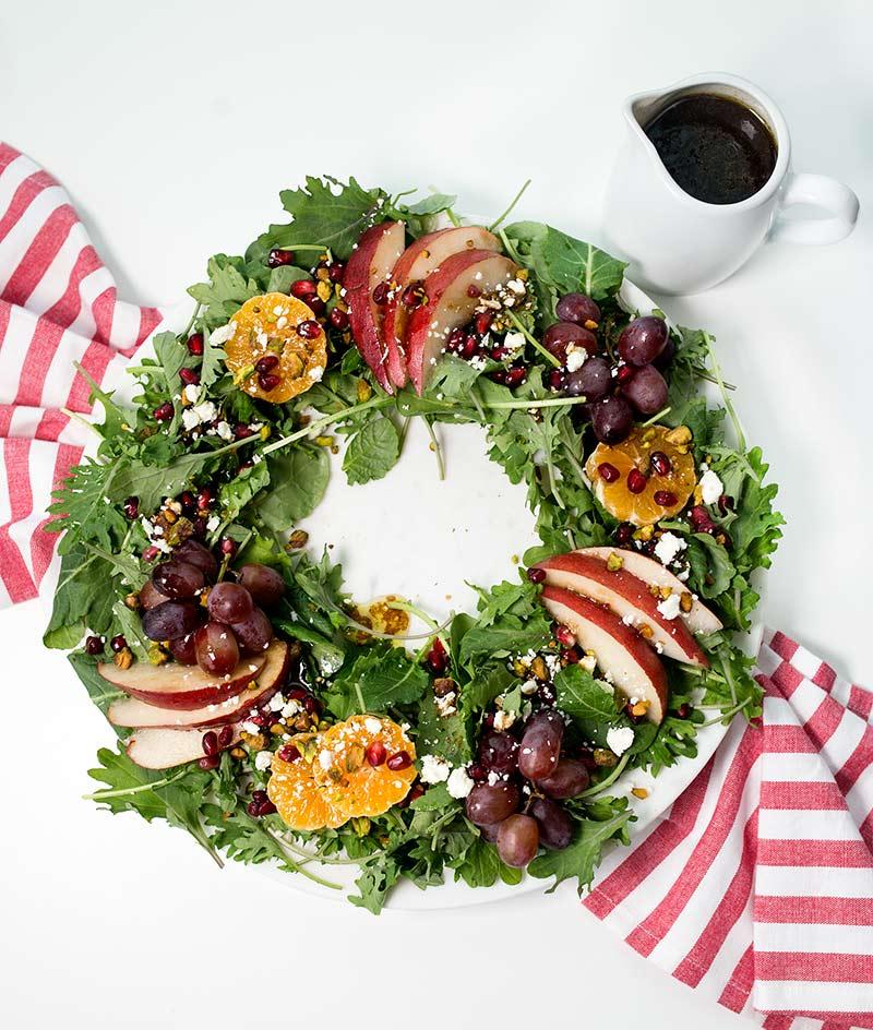 Salads For Christmas.Christmas Salad Wreath