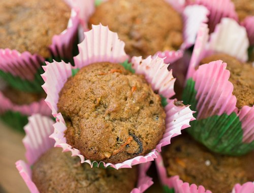 Morning Glory Muffins...shredded carrots, craisins, apples, coconut, granola...all the tid-bits combined into one DELICIOUS muffin!