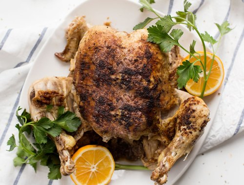 How to Cook a Whole Chicken in the Instant Pot: Step-by-step directions for the perfect herb-roasted chicken cooked in about an hour!