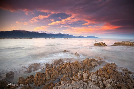 New Zealand Photos | Nor' West clouds over Seaward Kaikoura Mountains By Todd Sisson