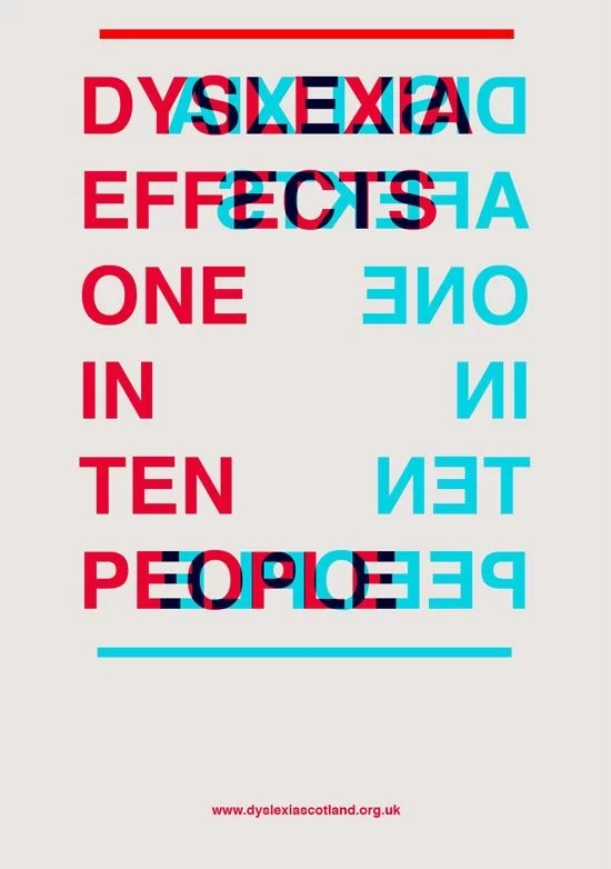 1 in 10 people have dyslexia