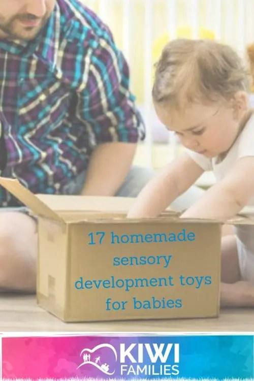 Homemade Sensory Development Toys for Babies-Pin