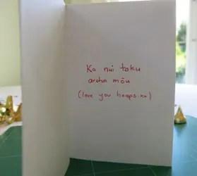 valentine's day card maori words
