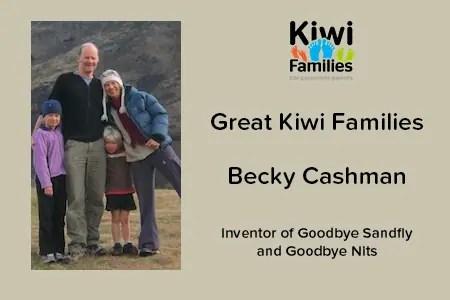 Great Kiwi Families Becky Cashman