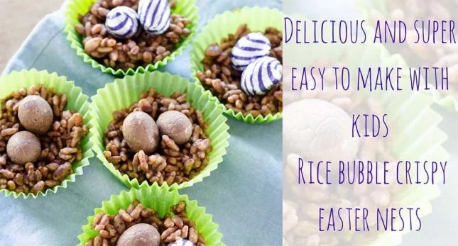 Delicious and super easy Rice bubble crispy easter nests copy