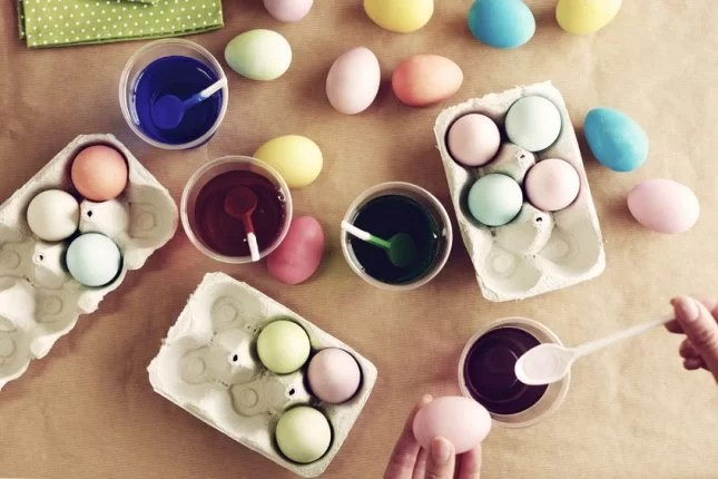 easter egg craft dying