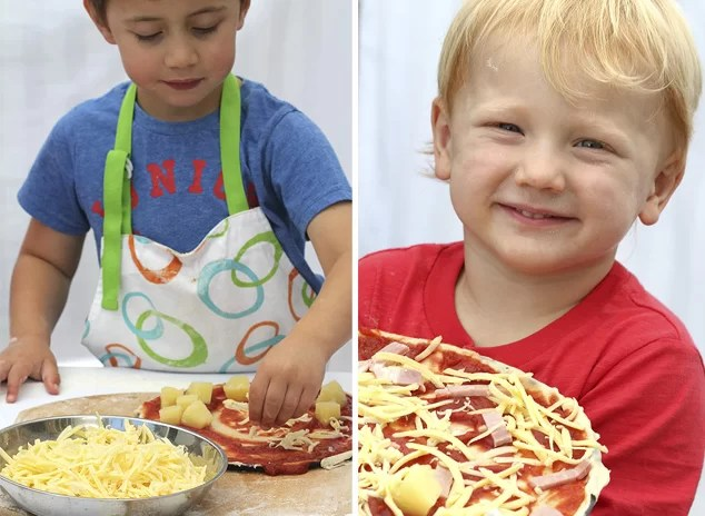 easy pizza with kids