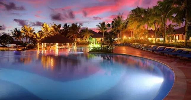 swimming pool at LeLagon Resort Port Vila Vanuatu