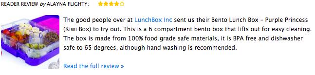 Bento lunch box purple princess kiwi box