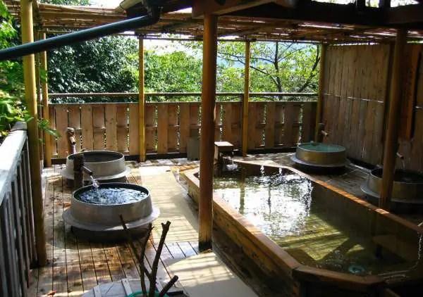 Japanese hot bath