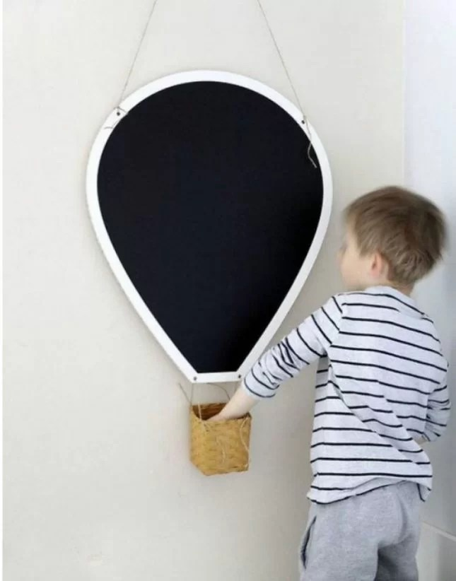 hotair balloon blackboard