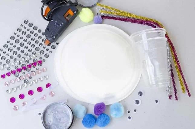 paper plate craft materials
