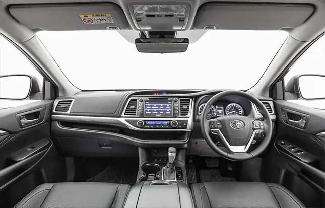 Toyota Highlander GXL-display