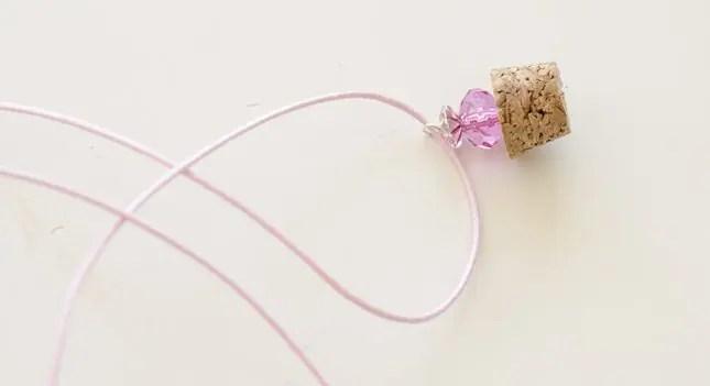 DIY bottle necklaces beads